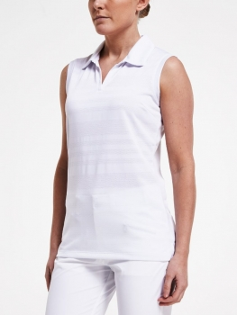 Röhnisch NOUR sleeve less Polo, weiß