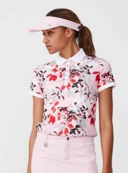 Röhnisch LEAF Polo shirt, pink
