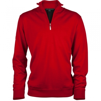 Greg Norman Lined merino woll Sweater, red