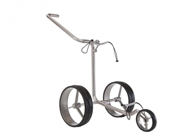 JuCad JUNIOR 3-Rad Push Trolley, Edelstahl