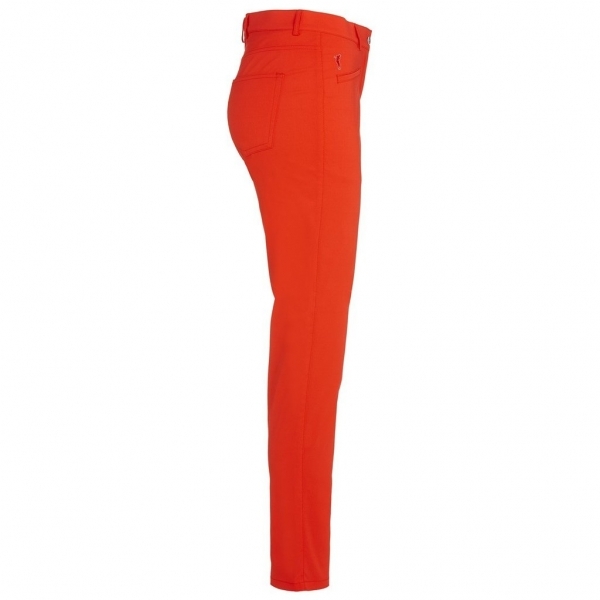 Golfino lady 7/8 strech Pant, red-flame