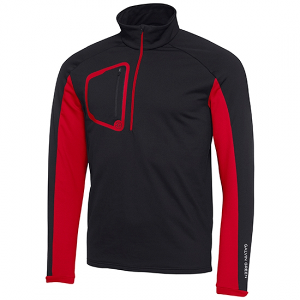 Galvin Green DIEGO mens Insula™ Sweater, black-red