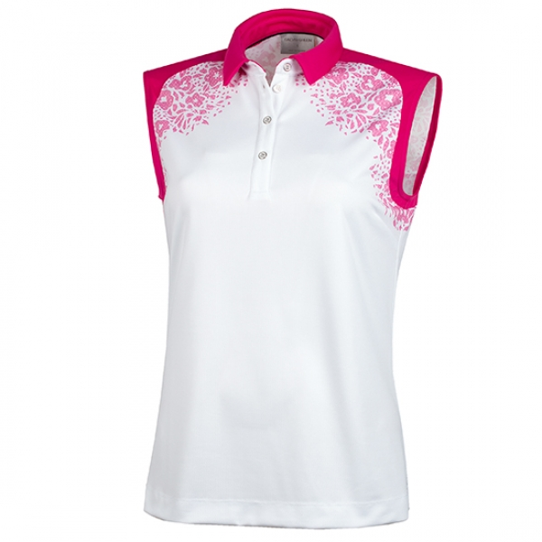 Galvin Green MEJA lady SL Polo, white-red