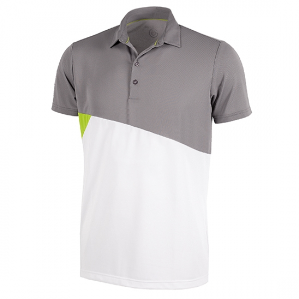 Galvin Green MICK mens Polo, sharkskin